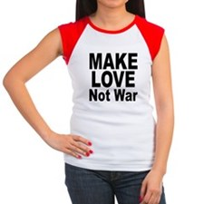 Make Love Not War Women's Cap Sleeve T-Shirt