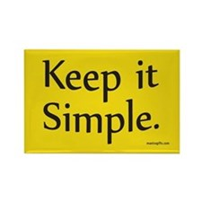 Keep it simple Rectangle Magnet