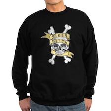 Cross Bones Biker Bitch Sweatshirt