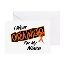 I Wear Orange For My Niece 8 Greeting Card