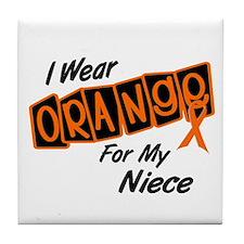 I Wear Orange For My Niece 8 Tile Coaster