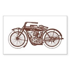 Vintage Motorcycle Rectangle Decal