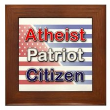 Atheist, Patriot, Citizen Framed Tile