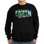 Earth Day Be The Change Sweatshirt (dark)
