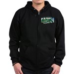 Earth Day Be The Change Zip Hoodie (dark)