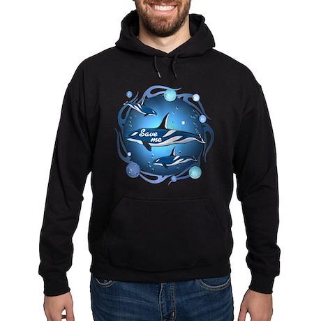 Save the whales Hoodie (dark)