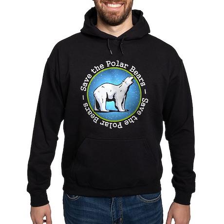 Save the Polar Bears Hoodie (dark)