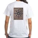 Ad-Free Chaos Sign Skull & Arrows White T-Shirt