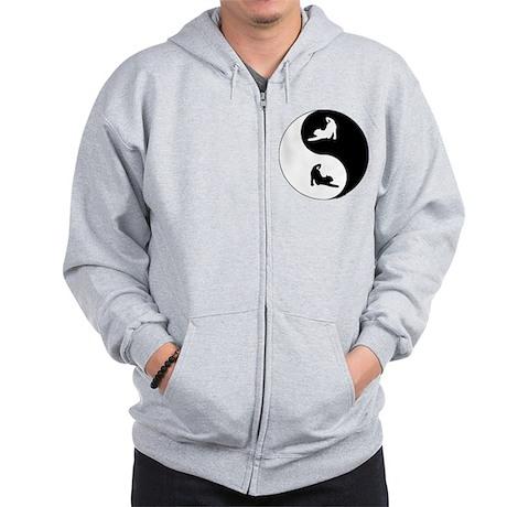 Yin Yang Cat Zip Hoodie