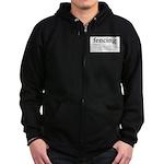 Fencing Definition Zip Hoodie (dark)