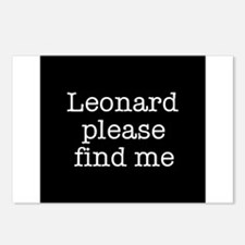 Leonard please find me (text) Postcards (Package o