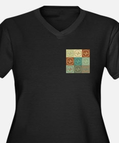 EEG Pop Art Women's Plus Size V-Neck Dark T-Shirt