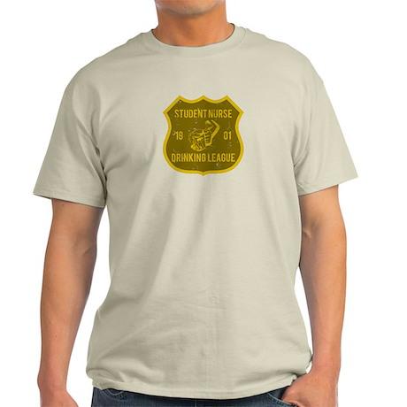 Student Nurse Drinking League Light T-Shirt