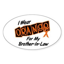 I Wear Orange For My Brother-In-Law 8 Decal