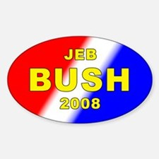 Jeb Bush, President, 2008, Oval Decal