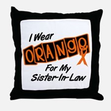 I Wear Orange For My Sister-In-Law 8 Throw Pillow