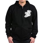 Map of Ireland Zip Hoodie (dark)