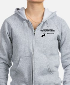 Moral Values Quote Zip Hoodie