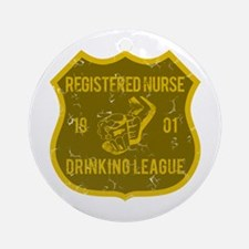 Registered Nurse Drinking League Ornament (Round)