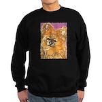 Long Haired Chihuahua Sweatshirt (dark)