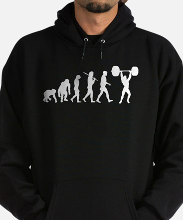 Evolution of Weightlifting Hoodie (dark)