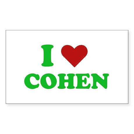 I Love Cohen Rectangle Sticker