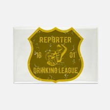Reporter Drinking League Rectangle Magnet