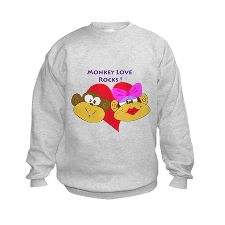 """Monkey Love Rocks!"" Kids Sweatshirt"