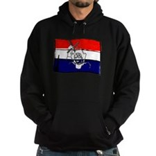 Dutch flag with sketch Hoodie
