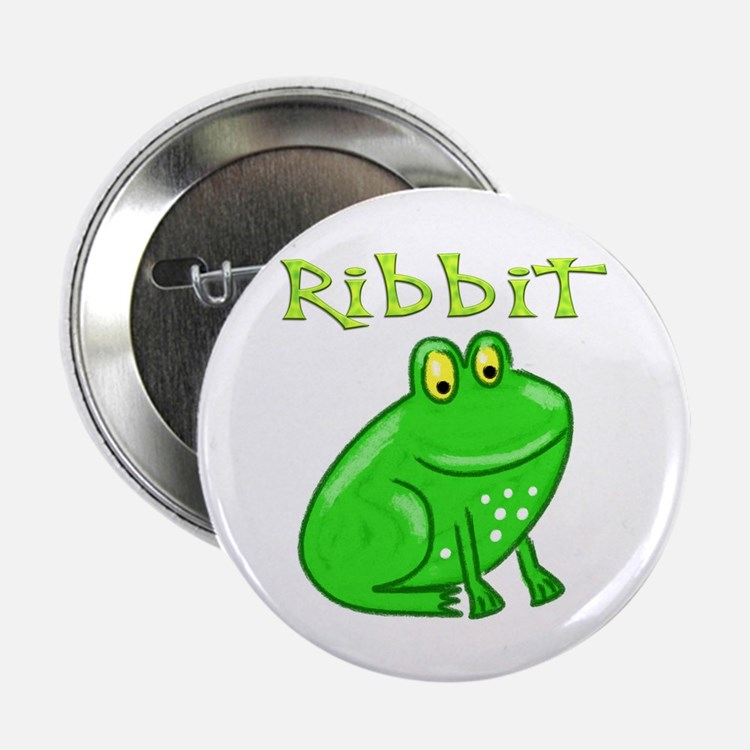 """Ribbit 2.25"""" Button (10 pack)"""