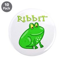 """Ribbit 3.5"""" Button (10 pack)"""
