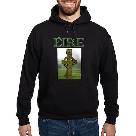 Eire Celtic Cross Hoodie (dark)