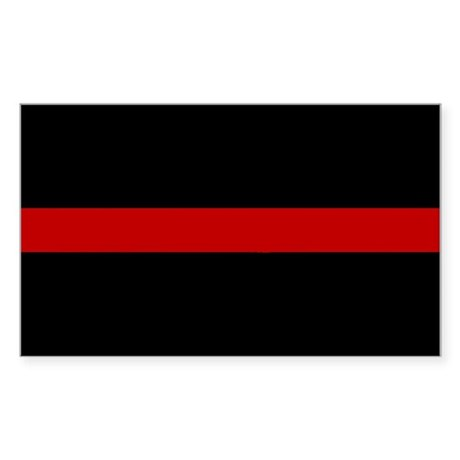 Firefighter Thin Red Line Rectangle Sticker