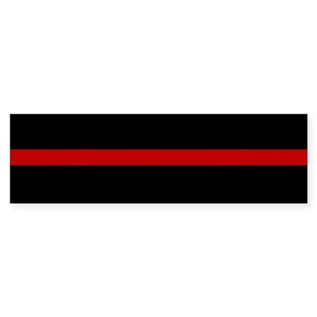 Firefighter Thin Red Line Bumper Sticker