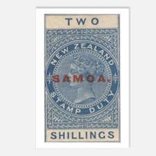 Samoa NZ stamp duty ovpt Postcards (Package of 8)