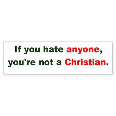 Not a Christian Bumper Sticker