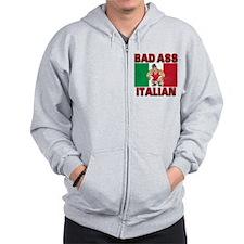 Bad Ass Italian Zip Hoodie