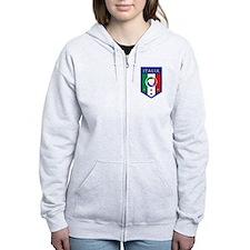 Italian Soccer emblem Zip Hoodie