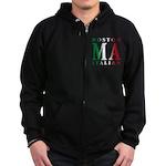 Boston Italian Zip Hoodie (dark)