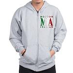 Boston Italian Zip Hoodie