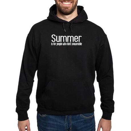 Summer... snowmobile Hoodie (dark)