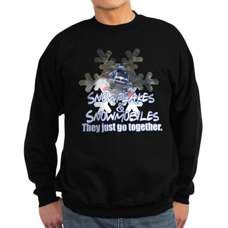 Snowflakes & Snowmobiles Sweatshirt (dark)