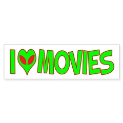 I Love-Alien Movies Bumper Sticker (10 pk)