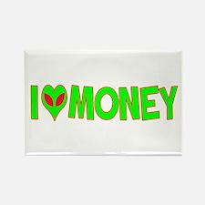I Love-Alien Money Rectangle Magnet