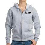 Will Work For Snow Women's Zip Hoodie