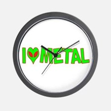 I Love-Alien Metal Wall Clock
