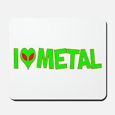 I Love-Alien Metal Mousepad