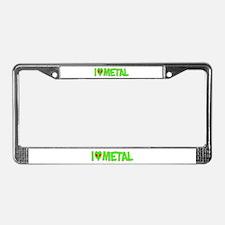 I Love-Alien Metal License Plate Frame