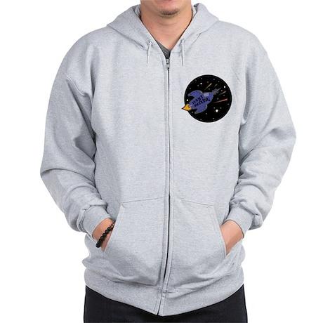 Planet Earth Day Rocket Zip Hoodie