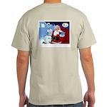 Santa Unchains Dog Ash Grey T-Shirt